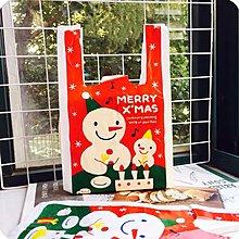 聖誕雪人背心袋10入20元❤️ 聖誕禮物袋 背心袋 塑膠袋 購物袋 手拎袋 打包袋  禮物袋 手提塑膠袋 包裝袋
