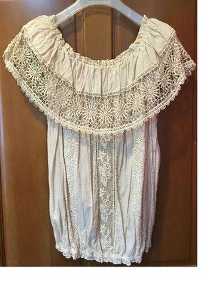 日本小店購買衣物~女裝短袖棉麻衫~質感舒適