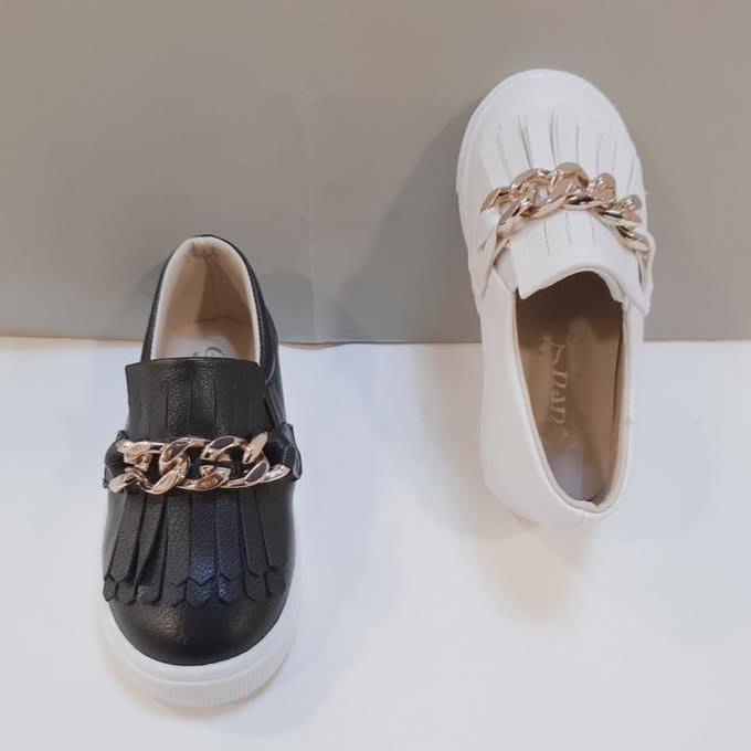 『※妳好,可愛※』 妳好可愛韓國童鞋 正韓 巴黎公主風 金屬流蘇休閒鞋 兒童休閒鞋  懶人鞋 板鞋