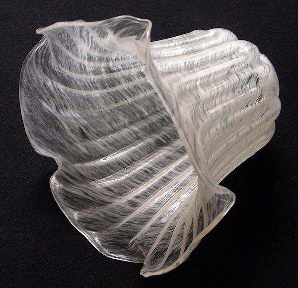 百合花老玻璃燈罩手工玻璃藝術品台灣民藝玻璃工藝品【心生活美學】
