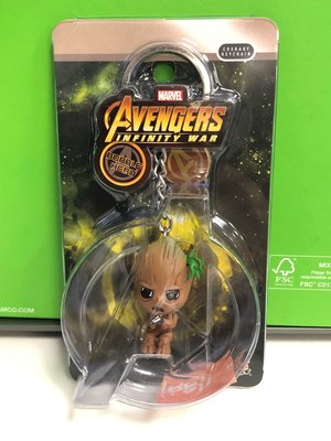HOT TOYS COSBABY-MARVEL GROOT公仔KEYCHAIN(AVENGERS LEGENDS FIGURE SPIDER IRON MAN