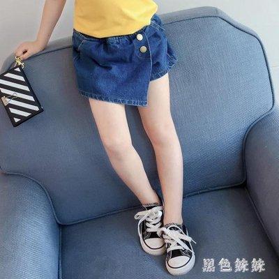 韓版童裝2019年夏季熱褲女童洋氣免水洗牛仔褲百搭假兩件裙褲短褲 GD694