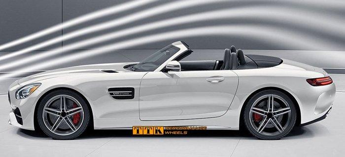 2018 類Mercedes-AMG GT S Sports 式樣 19吋 5孔112 8.5J+9.5J 黑底車面