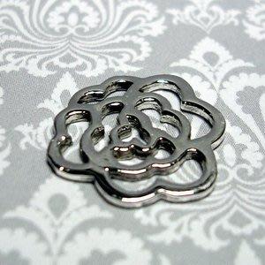 琥珀貓~【925純銀材料配件】連結配件~N9840~玫瑰花~一個