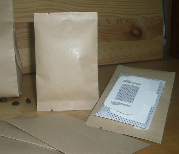 新袋型_NB502_平光淡色牛皮紙_合掌掛耳外袋_日式袋型_20g咖啡豆_樣品袋_精品豆(200入)