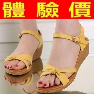 涼鞋 厚底坡跟涼鞋 楔型涼鞋-防滑舒適百搭中跟真皮女鞋子4色69w1[獨家進口][米蘭精品]