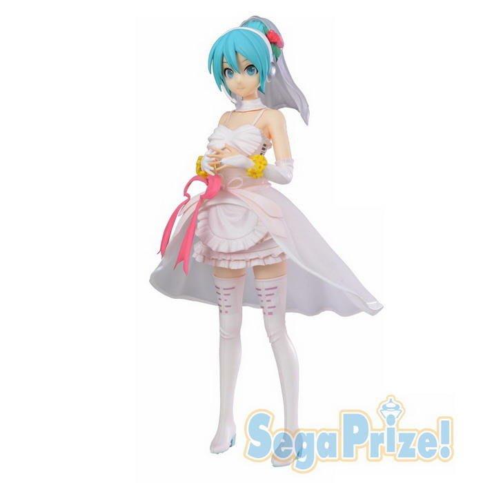 東京都-日本SEGA景品-初音未來 MIKU WHITE DRESS 初音 婚紗禮服 人物高約23公分 代理 現貨