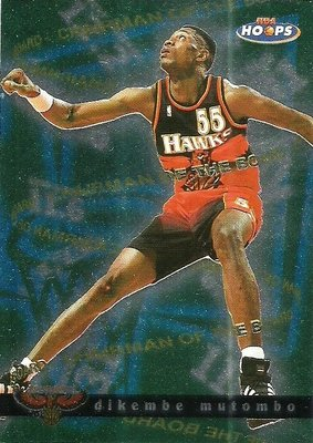1997-98 HOOPS DIKEMBE MUTOMBO Chairman of the Board #2CB 特卡