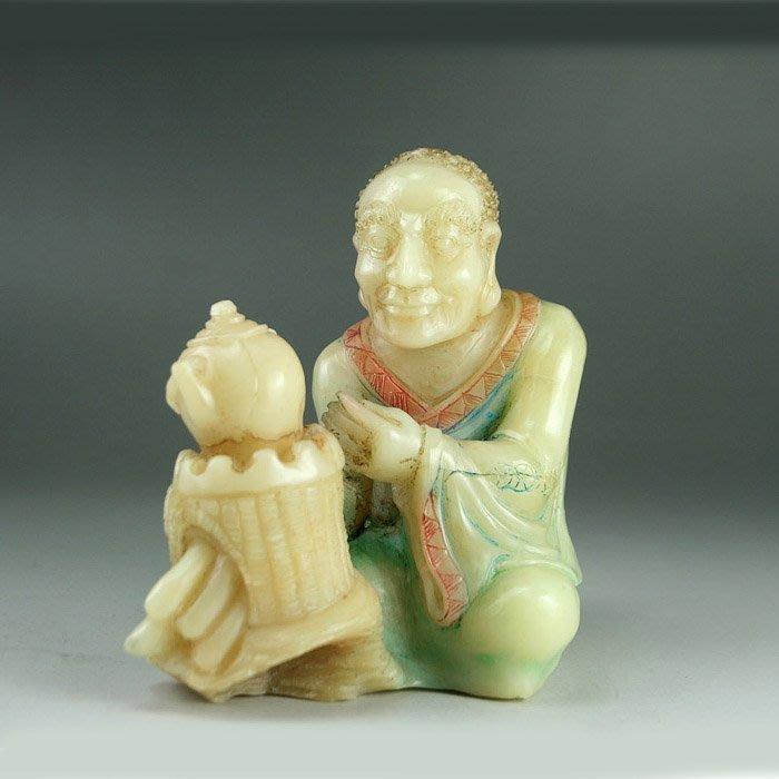 批發價~~國寶壽山石精品擺件----老坑芙蓉石『羅漢』特色工藝
