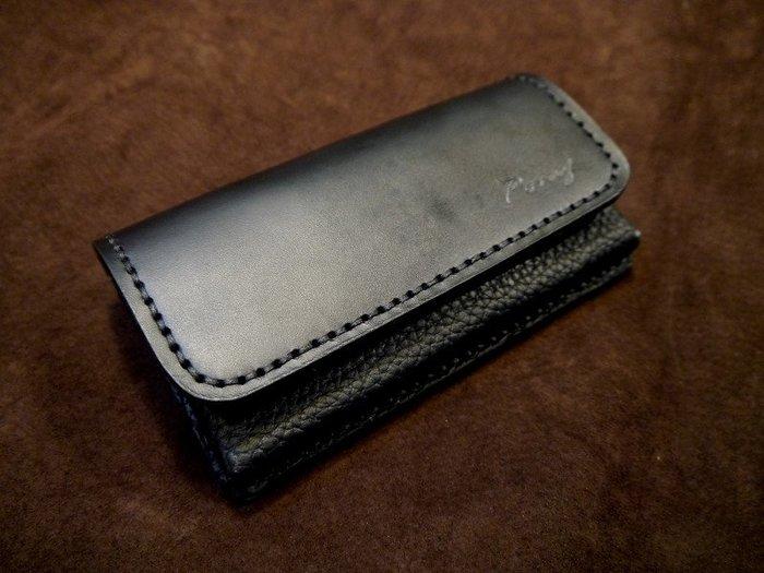 (KH手工皮件)全牛皮iphoneXsMax iphoneXR 可用手機皮套橫式腰掛皮套.量身訂作配色自選免費燙字