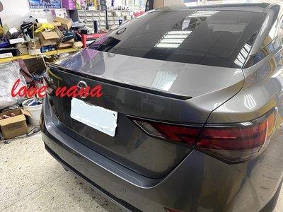 [[娜娜汽車]] 日產 2020 sentra B18 專用 尾翼 小壓尾 PP材質 卡夢款 水轉印