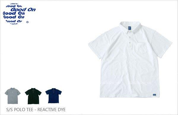 WaShiDa【GOST1103C】Good On 日本品牌 反應染色 5.5oz 美國棉 口袋 POLO衫 短袖
