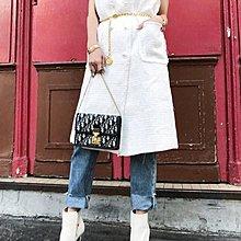 *~fuyumi boutique~*100%正韓 秋裝新款 小香珍珠釦長版背心 黑/白