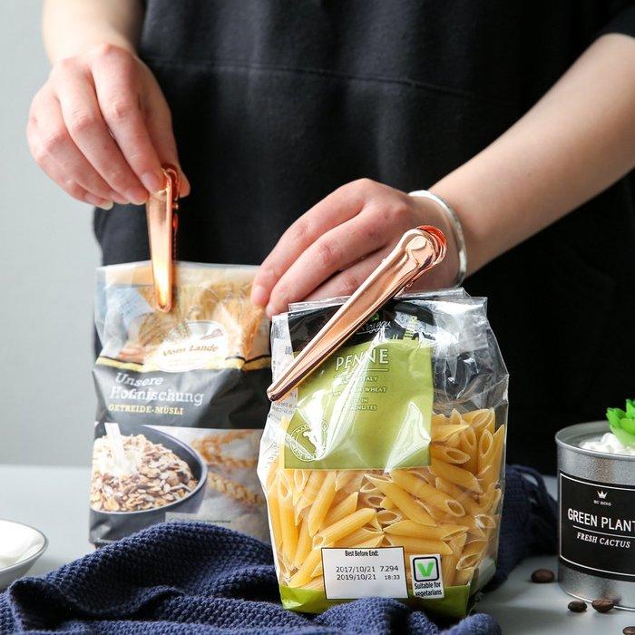奇奇店-不銹鋼食品袋密封夾食物保鮮夾子零食袋子封口夾XW-10#簡約 #輕奢 #格調