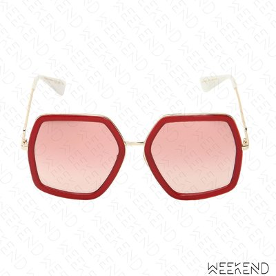 【WEEKEND】 GUCCI Oversized Octagon 太陽眼鏡 墨鏡 紅色 470458