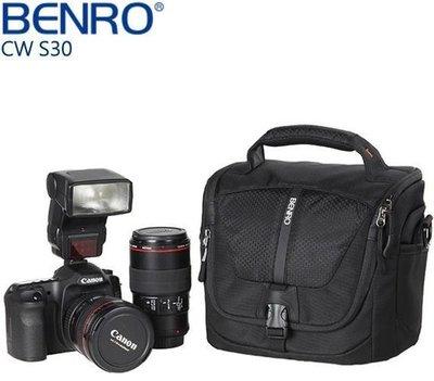 【日產旗艦】BENRO百諾 CW-S30 1機2鏡1閃 免運 附雨衣 酷行者 單肩側背包  700D D5300 650D A7R 背包