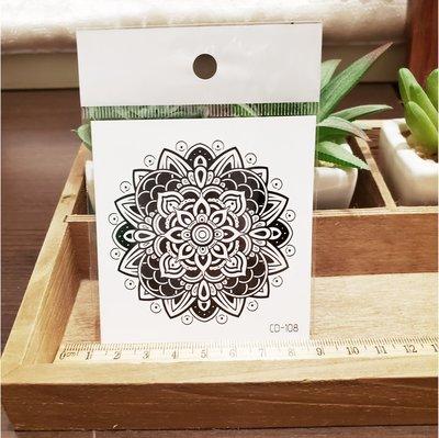 【萌古屋】】花朵圖騰 - 手背防水紋身貼紙刺青貼紙CD-108 K12