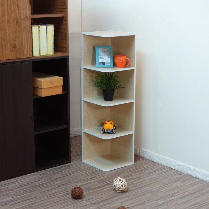 生活大發現-DIY-四層轉角收納櫃/角落櫃/置物架/隙縫櫃