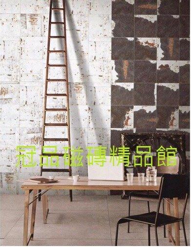 ◎冠品磁磚精品館◎進口精品 霧面斑駁感白磚及咖啡磚- 20X20CM
