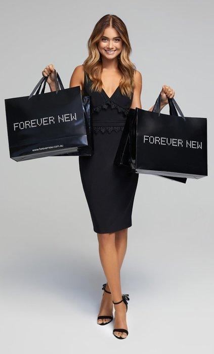 【Forever New 】挖背無袖黑色洋裝