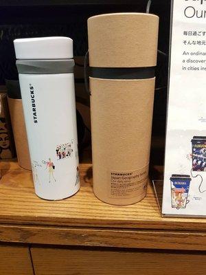 (現貨)L'Amour Infini愛無限-日本星巴克Starbucks地圖系列 白色插圖保溫杯355ml 隨行杯