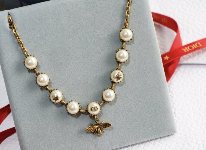 Dior Bracelet 珍珠小蜜蜂手鍊 金