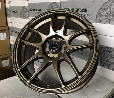 全新 DATA ED1 15吋鋁圈 古銅 平光黑 黑底黑透車面 4孔100 4孔114.3 7J 類work
