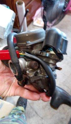 達成拍賣 SV MAX 車玩 5NW 原廠 化油器 CVK 24 前拉 整理清洗好的 空濾駔 QC 勁戰 GTR RS