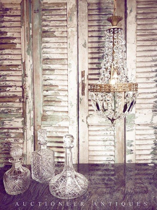 【拍賣師古董市集】歐洲古董1950年代法國Empire水晶燈