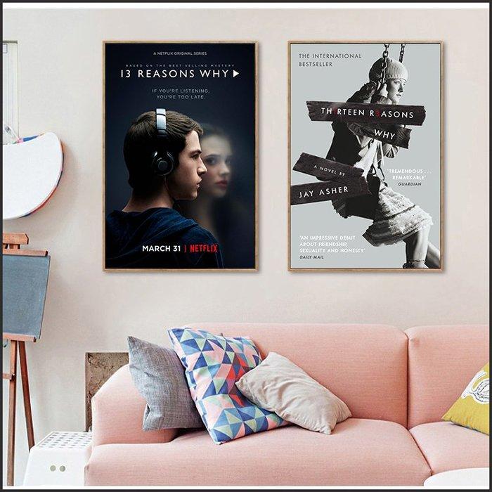 日本製畫布 電影海報 漢娜的遺言 13 Reasons Why 掛畫 嵌框畫 @Movie PoP 賣場多款海報#