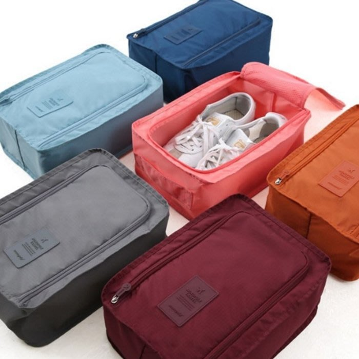 [ 愛雜貨 ]韓版 旅行用 多功能 防水 便捷式 鞋袋 鞋盒 整理包 好攜帶