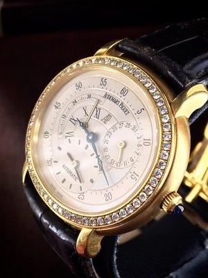 Audemars Piguet 愛彼 AP MILLENARY千禧年18K黃金自動上鍊.兩地時間動力儲存機械男錶 可驗錶
