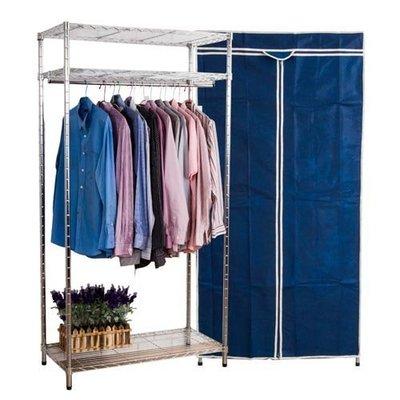 書房 臥室 【家具先生】簡約鐵力士衣櫥(附布套) 寬90公分I-T-WA004