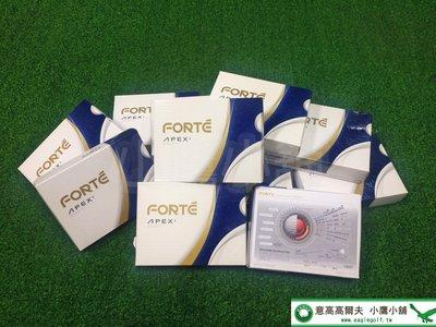 [小鷹小舖] 免運可分期 FOREMOST FORTE APEX6 高爾夫球 挑戰物理界線 再造顛峰 六層球 科技新品