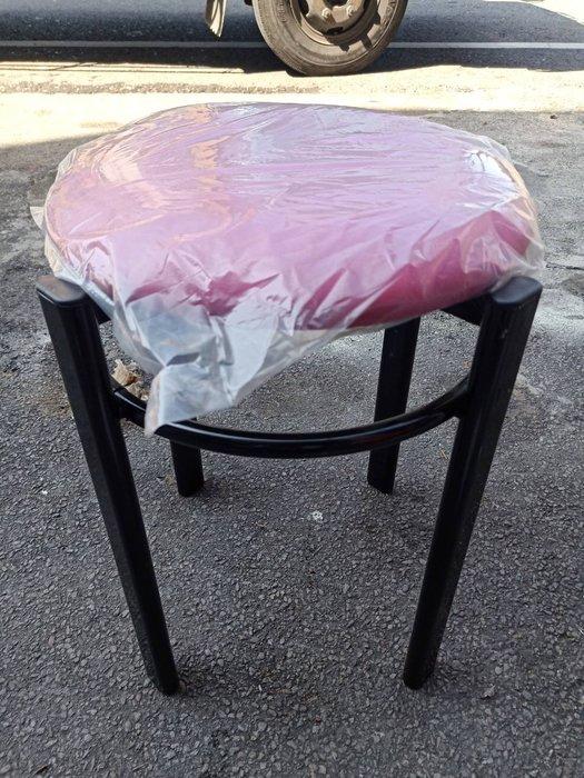 非凡二手家具 全新圓管皮墊圓椅(粉)*矮凳*輔助椅*餐椅*麻將椅*塑膠椅*餐廳椅B333-11