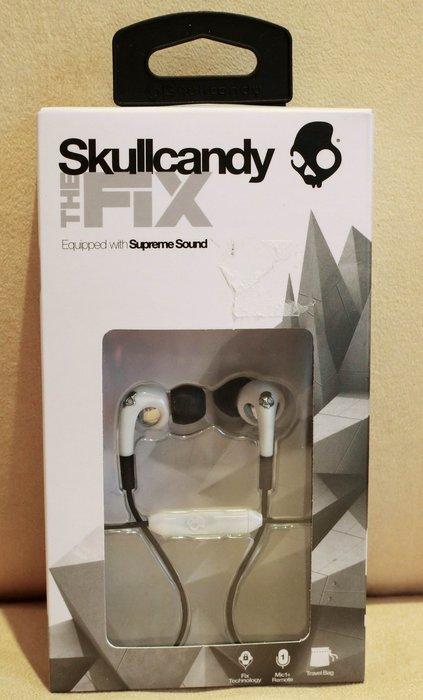 大降價!全新Skullcandy THE FIX supreme sound 白色有麥克風耳塞式耳機,送禮自用!無底價!