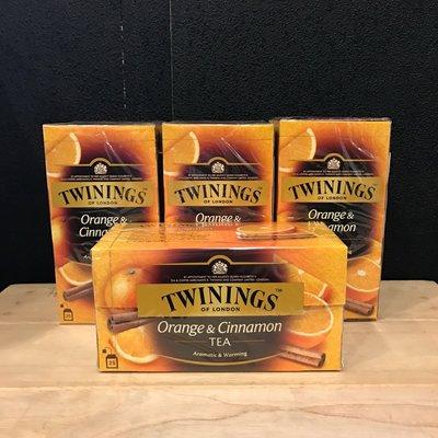 卡拉拉咖啡精品 英國 TWININGS 唐寧茶 香橙肉桂茶 2g×25入