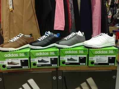 總統高爾夫(自取可刷國旅卡)ADIDAS 愛迪達 Adicross II WD 高爾夫鞋 槌球鞋 草地鞋 剩黑UK9