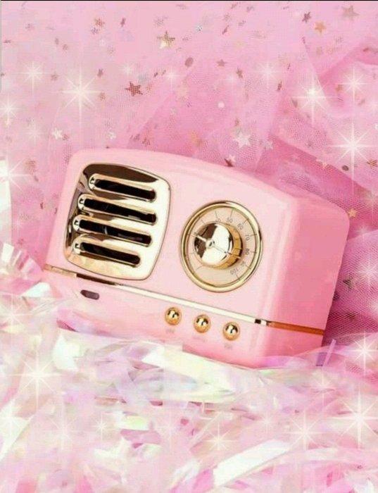 粉色玫瑰精品屋~🎀公主風迷你藍芽播放器~🎀