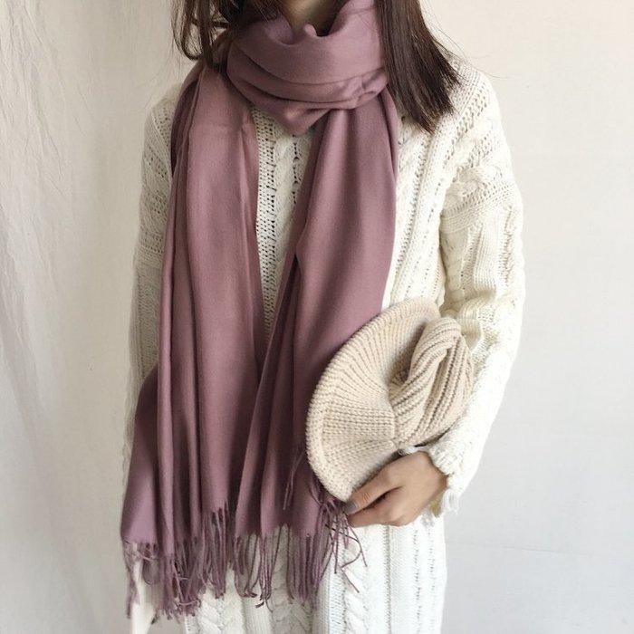 薄款 仿羊絨純色流蘇圍巾(秋季熱銷虧本衝量,賣完漲價)