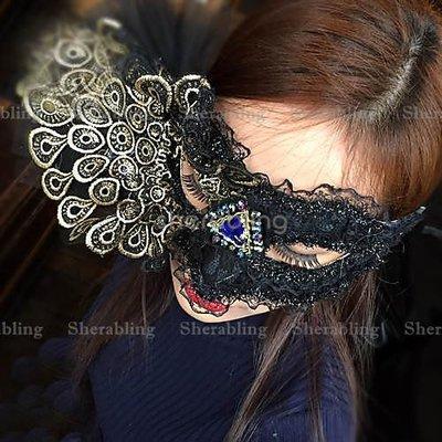 [PROP-H_00202] 威尼斯誇張金色蕾絲 華麗時尚派對面具男士男款面