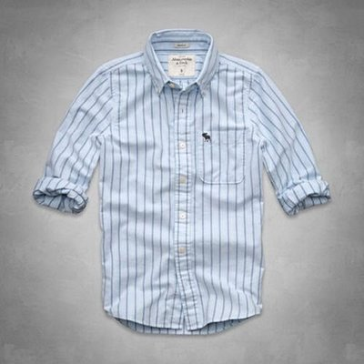 美國 AMPM【現貨 S129】AF / A&F 男版旗艦店款 Basin Mountain Shirt條紋襯衫S號