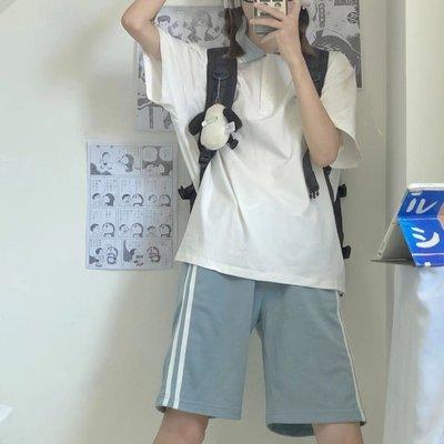 JK中牌制服館明泉女子jk體操服運動休閑套裝女夏季新款全套短袖女裝