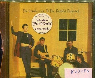 *真音樂* THE CRANBERRIES / TO THE FAITHFUL DEPARTED 二手 K23190