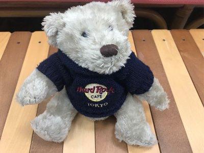 全新收藏品 1999 日本東京 Hard Rock Cafe bear 泰迪熊