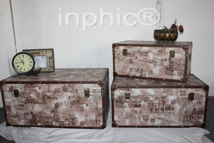 INPHIC-復古大皮箱 儲物箱  收納箱3件套