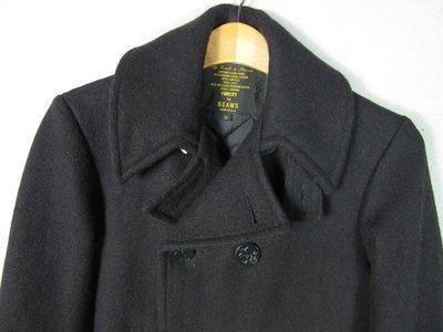 美國製  FIDELITY X BEAMS聯名款 海軍 740款 双排扣 短羊毛大衣 日本限定款