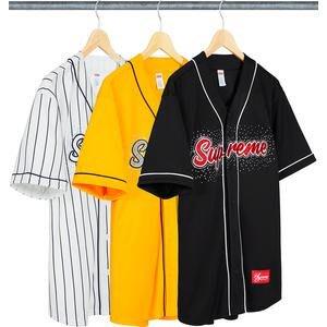 【美國鞋校】預購 SUPREME SS20 Rhinestone Baseball Jersey 棒球衣