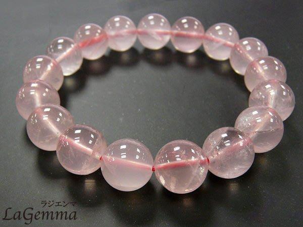 【寶峻水晶】天然粉晶芙蓉晶圓珠10mm手珠/手鍊/手環Rose Quartz,淨透度高,好桃花運人緣