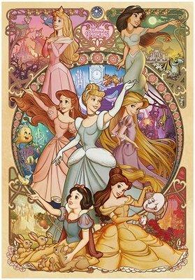 拼圖.迪士尼 公主 Mucha 慕夏 小美人魚 長髮公主 白雪公主 灰姑娘 茉莉 2000片拼圖,2000-623